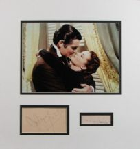 Gone With The Wind Autograph Display - Clark Gable & Vivien Leigh